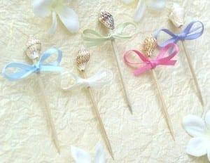 ribbon seashell toothpicks 5