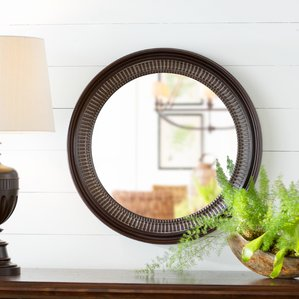round-brown-wall-mirror The Best Nautical Mirrors You Can Buy