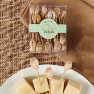 seashell toothpick set 1