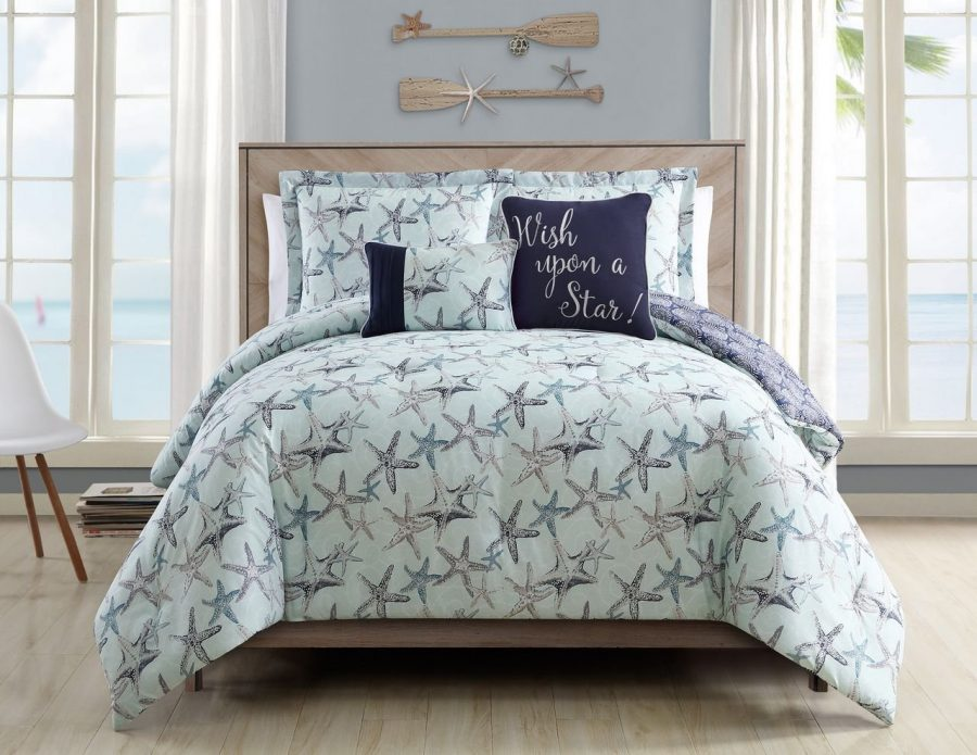 starfish-bedding-set-in-a-bag Best Coastal and Beach Bed In A Bag Options