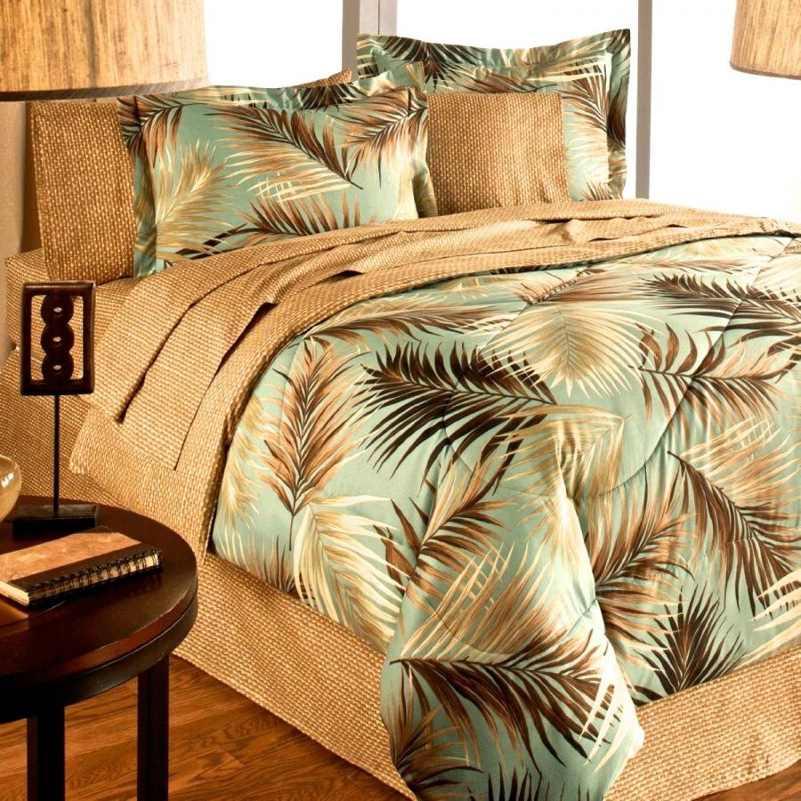 tropical-palm-tree-comforter-beach-bed-in-a-bag-4 Best Coastal and Beach Bed In A Bag Options