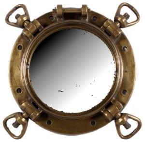war inspired porthole mirror 18