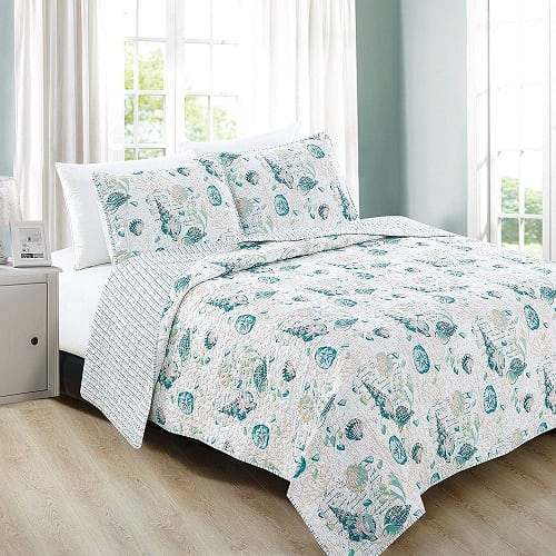 3-piece-coastal-bedding-quilt-set-with-shams Coastal Bedding and Beach Bedding Sets