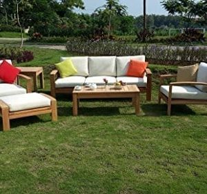 6-Pc-A-grade-Outdoor-Patio-Teak-Sofa-Set-3-Seater-Sofa-2-Deep-Seating-Club-Chairs-1-Side-Table-1-Rectangle-Coffee-Table-And-1-Ottoman-Furniture-Only-Madras-Collection-0