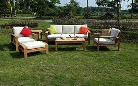 6-Pc-A-grade-Outdoor-Patio-Teak-Sofa-Set-3-Seater-Sofa-2-Deep-Seating-Club-Chairs-1-Side-Table-1-Rectangle-Coffee-Table-And-1-Ottoman-Furniture-Only-Madras-Collection-0-450x281 The Ultimate Guide to Outdoor Teak Furniture