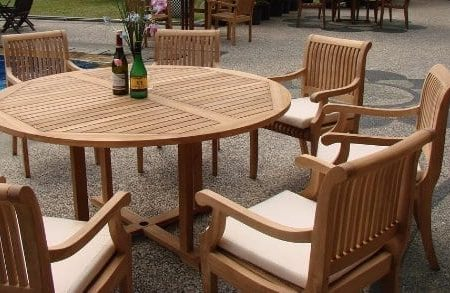 7-Pc-Grade-A-Teak-Wood-Dining-Set-60-Round-Table-And-6-Giva-Arm-Captain-Chairs-WFDSGV6-0-450x293 The Ultimate Guide to Outdoor Teak Furniture