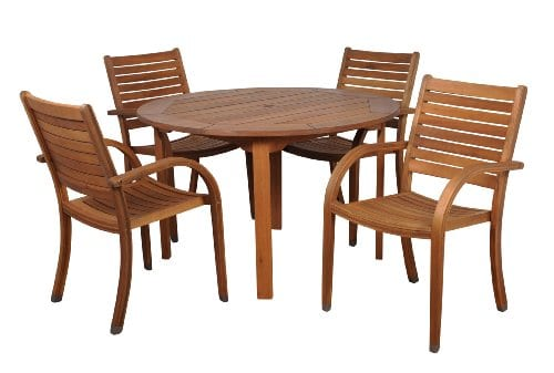 Amazonia-Arizona-5-Piece-Eucalyptus-Round-Dining-Set-0 The Ultimate Guide to Outdoor Teak Furniture