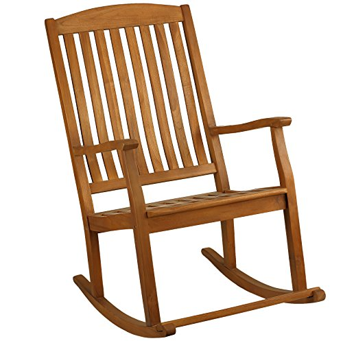 Bare Decor Large Rocking Chair in Teak Wood, Indoor or Outdoor ...
