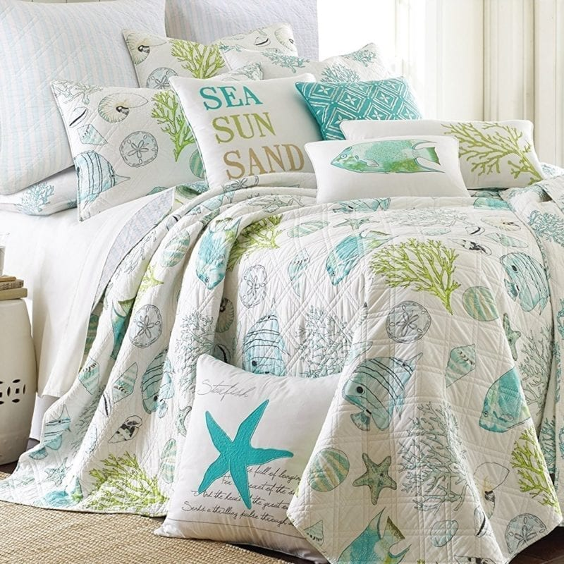 Biscayne-King-Quilt-Set-Aqua-Coastal-800x800 Coastal Bedding and Beach Bedding Sets
