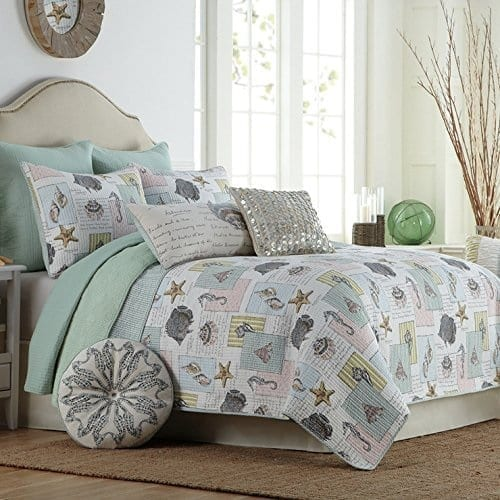 Brandream-Ocean-Bedding-Set-Seashells-Beach-Themed-Nautical-Bedding-Queen-Comforter-Set Coastal Bedding and Beach Bedding Sets