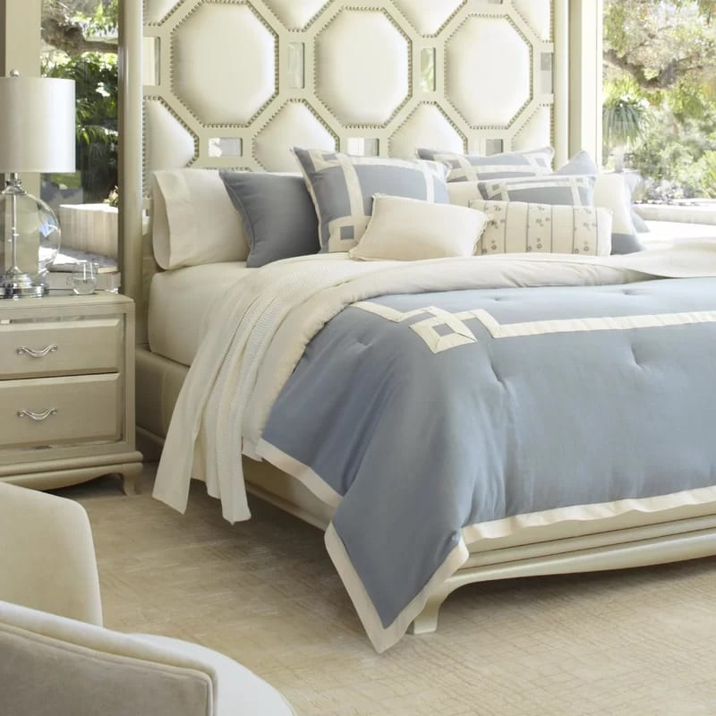 Brookfield-Reversible-Comforter-Set-by-Michael-Amini-AICO Coastal Bedding and Beach Bedding Sets