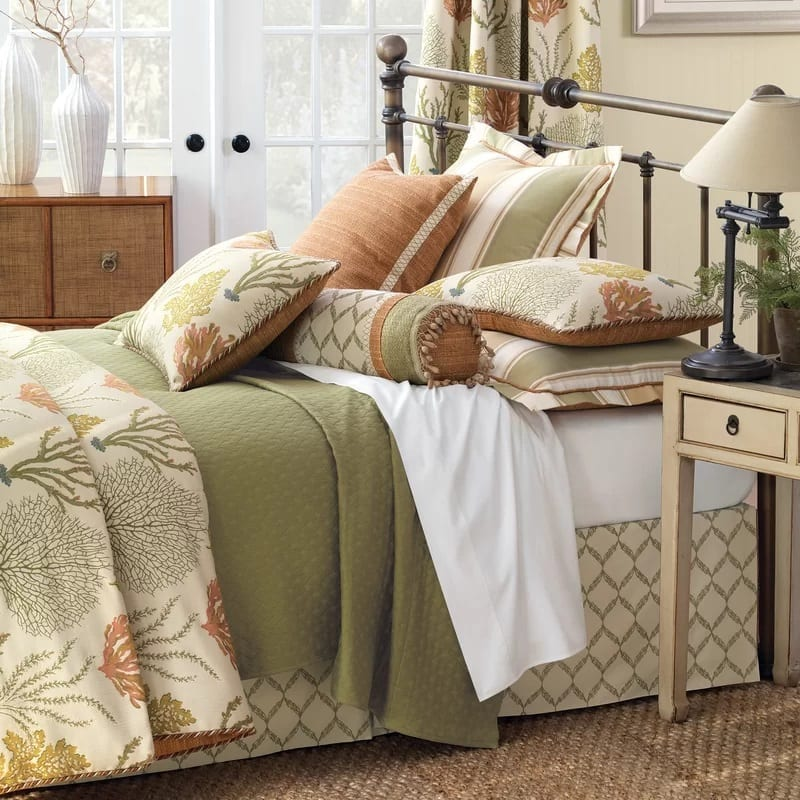 Caicos-Coverlet-Collection-by-Eastern-Accents Coastal Bedding Sets and Beach Bedding Sets