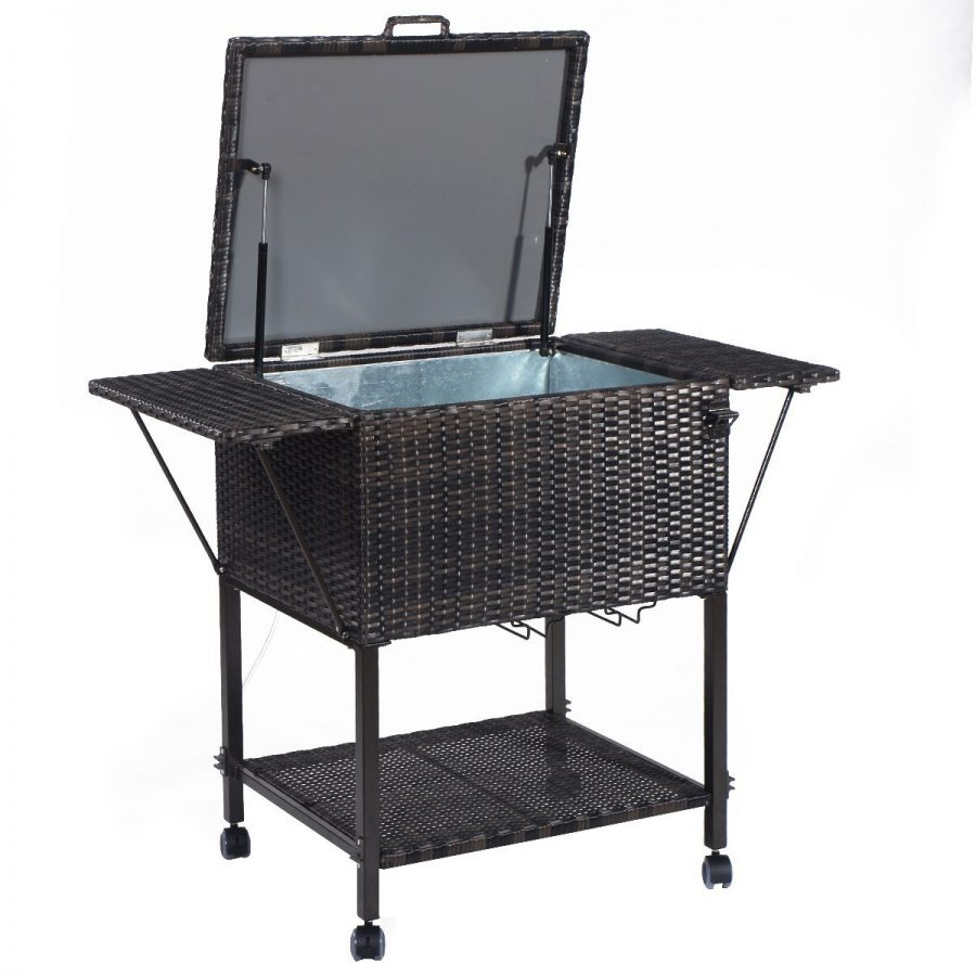 Giantex-Portable-Rattan-Cooler-Cart The Best Outdoor Coolers and Ice Chests