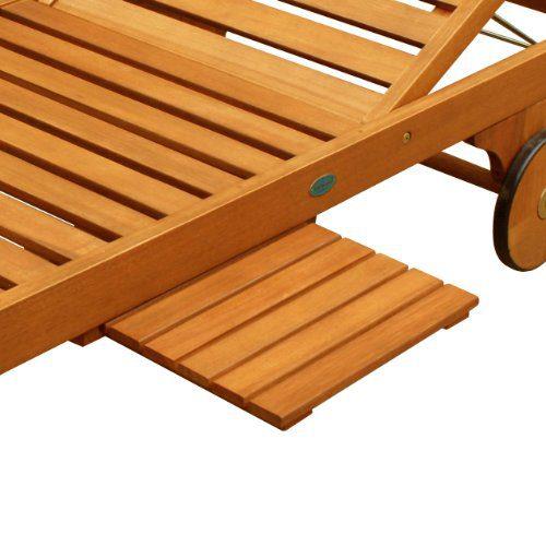 Luunguyen Lindy Outdoor Hardwood Teak Chaise Lounge