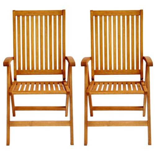 LuuNguyen-Tullamore-Outdoor-Hardwood-5-Positions-Reclining-Folding-Arm-Chair-Natural-Wood-Finish-Set-of-2-0