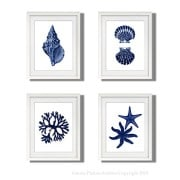 Navy-Blue-Beach-Wall-Art-Decor-Set-of-4-Unframed-Prints-Coastal-Home-Decor-0-1