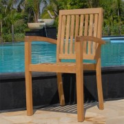 New-9pc-Grade-a-Teak-Outdoor-Dining-Set-one-Double-Extension-Table-8-Java-Arm-Chairs-Umbrella-0-0