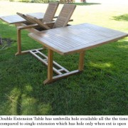 New-9pc-Grade-a-Teak-Outdoor-Dining-Set-one-Double-Extension-Table-8-Java-Arm-Chairs-Umbrella-0-5