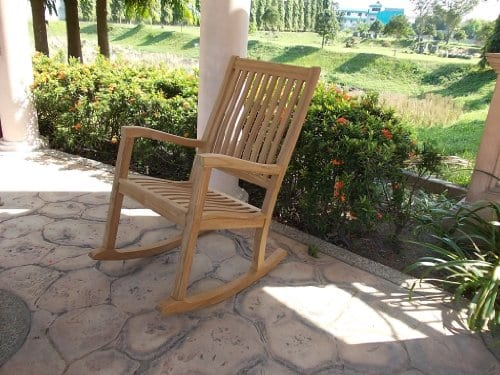 New-Grade-A-Teak-Wood-Kingston-Rocker-Rocking-Arm-Chair-Rocker-Cushion-Sold-Separately-Choose-Below-0