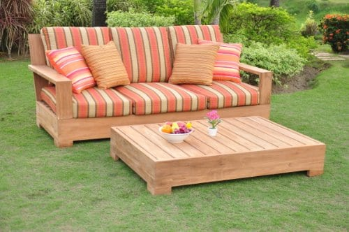 New-Luxurious-2-Piece-Teak-Sofa-Set-1-Sofa-Bench-3-Seater-with-Rectangle-Coffee-Table-Furniture-Set-Cushions-Set-Sold-Separately-Choose-correct-option-Leveb-Collection-WFSSLV1PR-0 The Ultimate Guide to Outdoor Teak Furniture