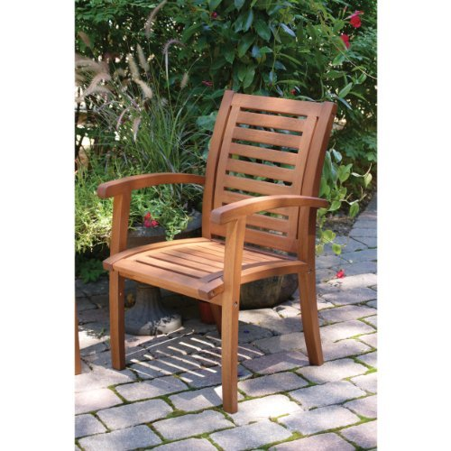 Outdoor interiors luxe eucalyptus teak arm chair beachfront decor for Outdoor interiors eucalyptus rocking chair