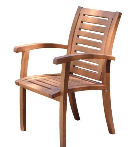 Outdoor Interiors Luxe Eucalyptus Teak Arm Chair