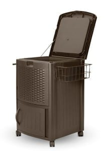 Outdoor-Wicker-Wheeled-Cooler-1-223x300 10 Outdoor Coolers For Your Beach Home or the Beach