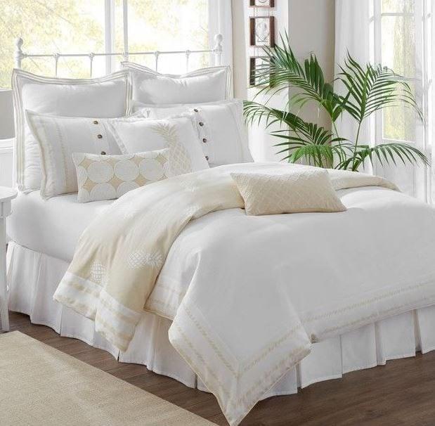 Southern-Tide-Southern-Hospitality-King-Khaki-Comforter-Set Coastal Bedding Sets and Beach Bedding Sets