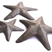 Starfish-Set-of-3-Nautical-Home-Decor-Recycled-Wall-Art-6-x-6-and-45-x-45-0-0