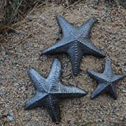 Starfish-Set-of-3-Nautical-Home-Decor-Recycled-Wall-Art-6-x-6-and-45-x-45-0-1