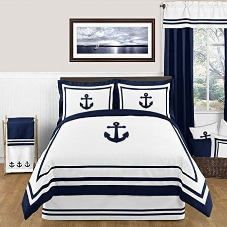 anchor-bedding The Best Nautical Quilts and Nautical Bedding Sets