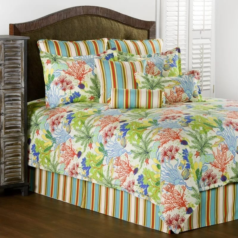 anna-maria-comforter-collection-by-beachcrest-home Coastal Bedding and Beach Bedding Sets