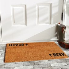 beach-beer-arrows-coir-doormat Beach Doormats and Coastal Doormats