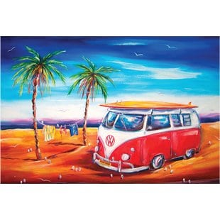 bus-at-the-beach-doormat Beach Doormats and Coastal Doormats