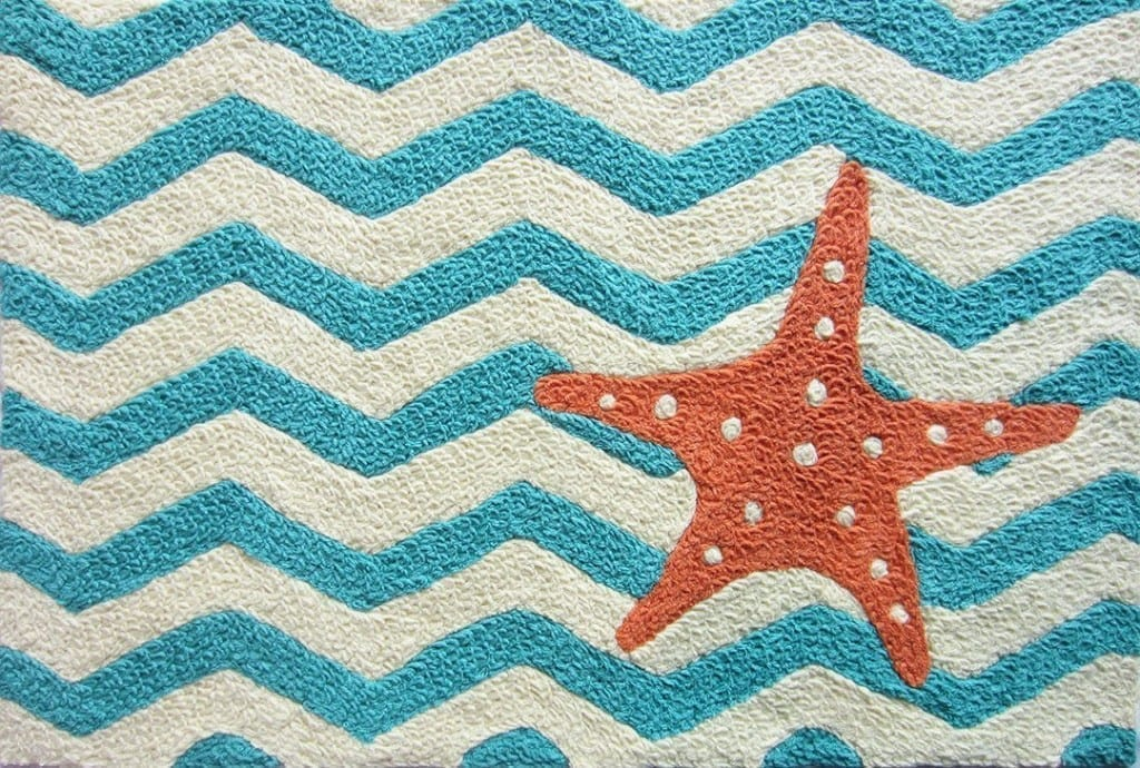 chevron starfish doormat