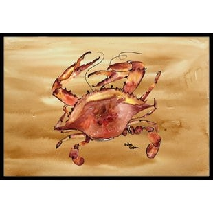 cooked-crab-sandy-beach-doormat-1 Beach Doormats and Coastal Doormats