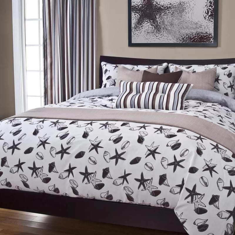 flintwood-shell-bay-duvet-cover-set Coastal Bedding and Beach Bedding Sets