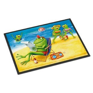 frogs-on-the-beach-doormat Beach Doormats and Coastal Doormats
