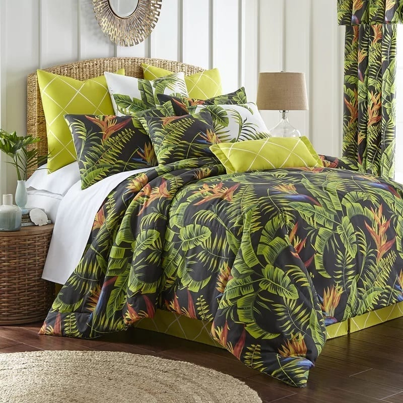 jebastin-comforter-set-tropical-comforter-by-bayou-breeze Coastal Bedding and Beach Bedding Sets