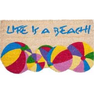 life-is-a-beach-doormat Beach Doormats and Coastal Doormats
