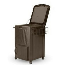 outdoor-brown-wicker-style-patio-cooler The Best Outdoor Coolers and Ice Chests