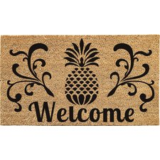 pineapple-welcome-doormat Beach Doormats and Coastal Doormats