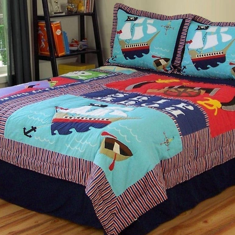 pirate-bedding The Best Nautical Quilts and Nautical Bedding Sets