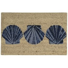 seashell-welcome-scallop-shells-doormat Beach Doormats and Coastal Doormats