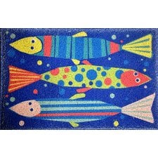 tropical-fish-doormat Beach Doormats and Coastal Doormats
