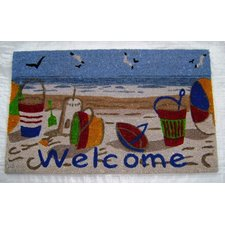welcome-beach-toys-doormat Beach Doormats and Coastal Doormats