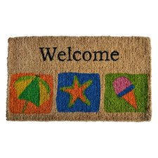 welcome-coir-beach-theme-doormat Beach Doormats and Coastal Doormats