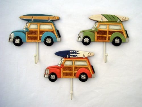3-Woody-with-Surfboard-Towel-Hooks-0 Surf Decor & Surfboard Decorations