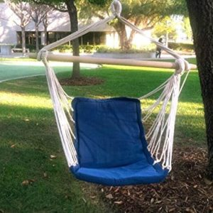 Airblasters-Hanging-Rope-Chair-Swing-Hanging-Hammock-Chair-Porch-Swing-SeatBlue-0
