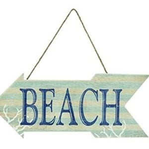 Arrow-Shaped-Wood-Beach-Sign-20-Inches-Wide-0